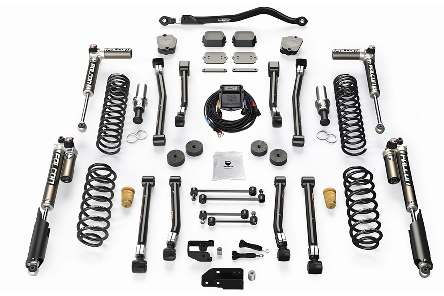 Teraflex 3.5in Alpine RT3 Short Arm Suspension Lift Kit w/ Falcon SP2 3.5 aDAPT Shocks - JL 4Dr