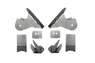 EVO Manufacturing Rear High Clearance Long Arm Frame and Axle Bracket Set - JK