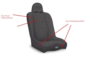 PRP Seats Daily Driver High Back Seat Grey