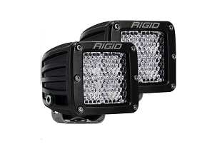 Rigid Industries D-Series PRO Flood Diffused Surface Mount Lights, Pair