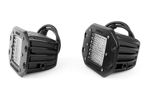Rigid Industries D-Series PRO Flood Diffused Lights w/Flush Mount, Pair